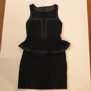 Express Black Peplum Dress